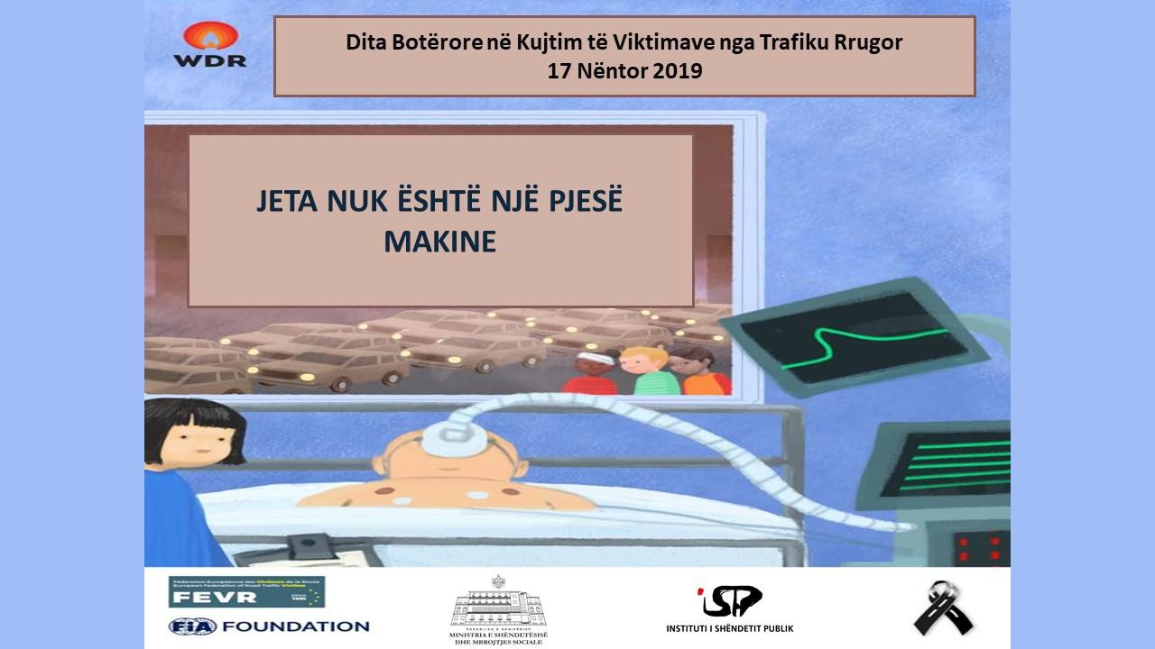 Poster-i-Dites-Ne-Kujtim-te-Viktimave-nga-Trafiku-Rrugore-2019